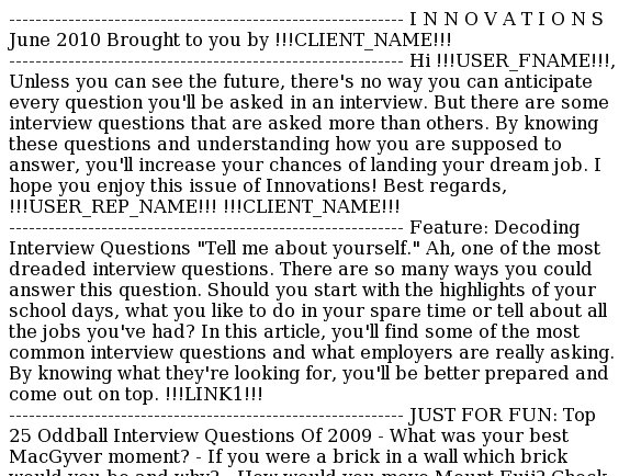 Innovations: Decoding Interview Questions