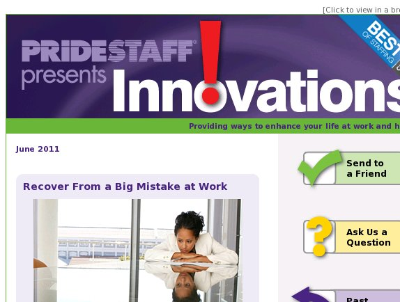 Innovations: Recover From a Big Mistake at Work